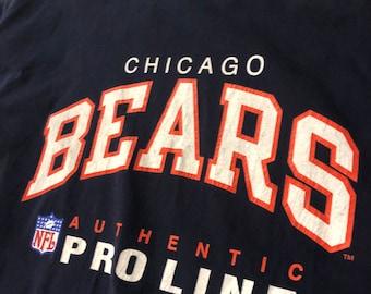 ecf66a4d7 Vintage 90s NFL Chicago Bears Proline Champion Arch Graphic Tee Shirt Size  XXL