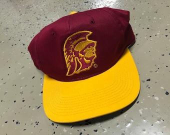 79f5c266f0dba Vintage 90s USC Trojans Sports Specialties Plain Logo Snapback Hat
