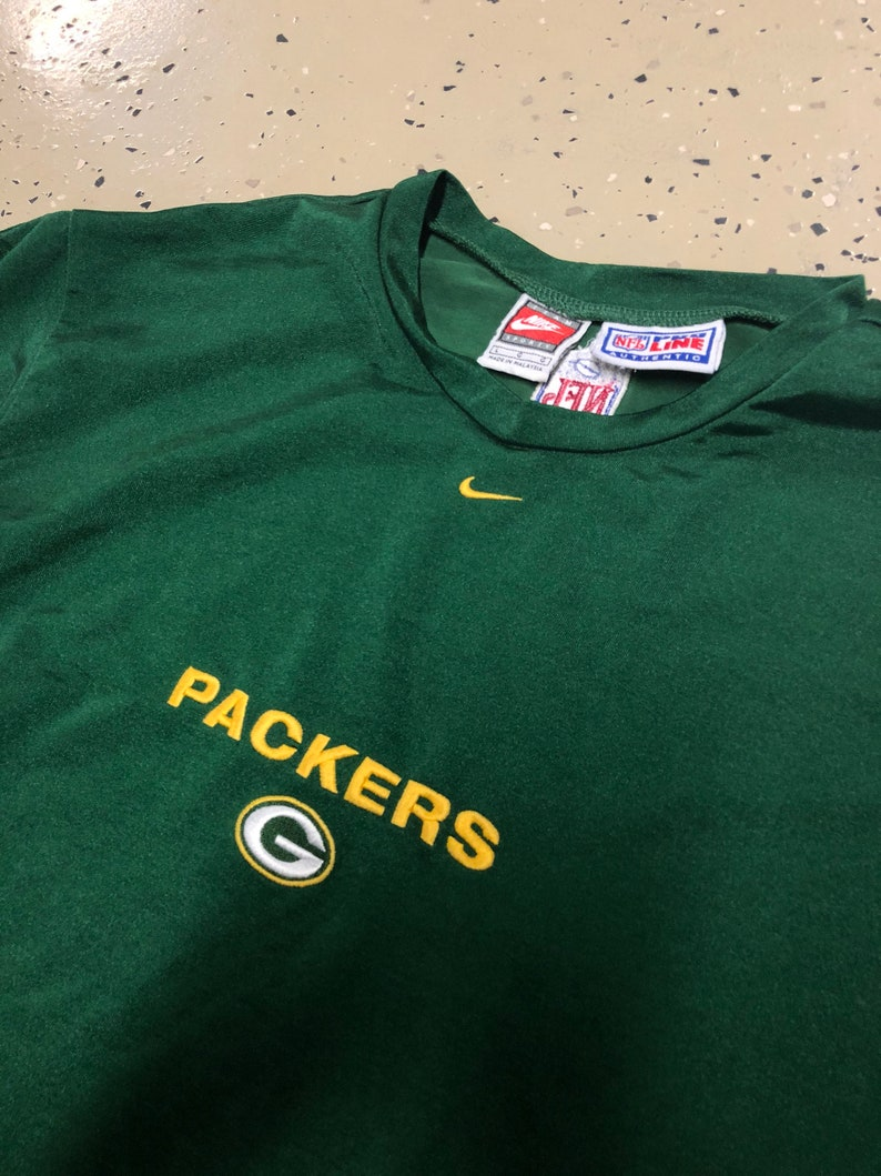 1cc457953 Vintage 90s NFL Green Bay Packers Nike Pro Line Authentic Long