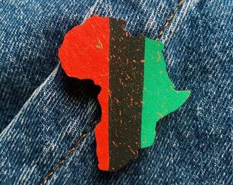 RBG Africa Wood Pin