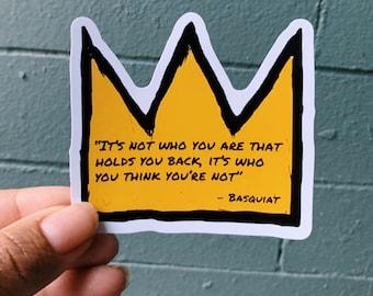 Basquiat Quote Sticker