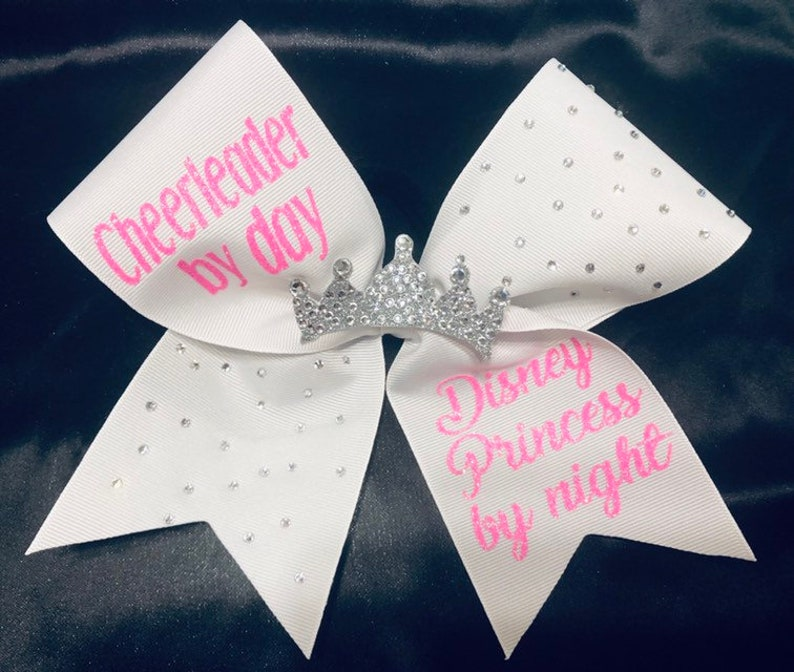 Cheerleader by Day and Disney Princess by Night cheerbow