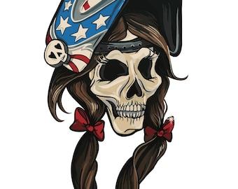 "3.5"" Barbie The Welder Logo Sticker DIE CUT Hood Slaps Welding Skull Stickers Weld Weldporn"