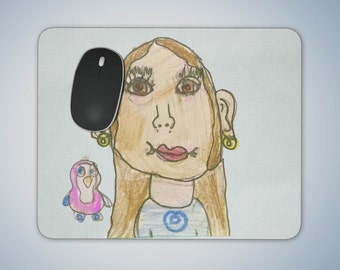 Personalise a Mouse Pad with your childs Artwork, or request a custom print with your own design
