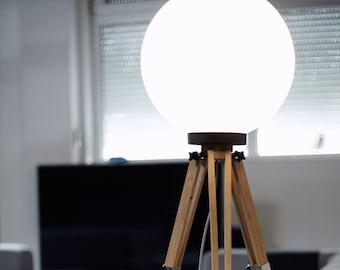Floor Lamp, Modern Lamp, LED Lamp, Bulb Lamp, Studio Decor, Bar Decor, Wooden Lamp, Big Floor Lamp, Standing Lamp, Movie Decor, Gift Lamp