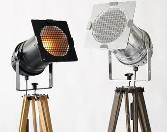 Industrial Lamp, Floor Lamp, Tripod Lamp, Adjustable Lamp, Movie Set Lamp, Metal Lamp, Futuristic Lighting, Photography Lamp, Boho Lighting