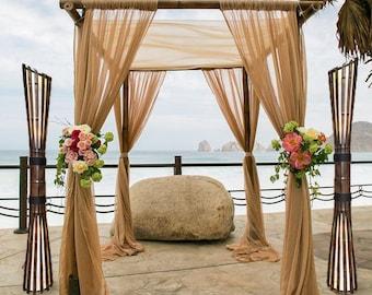 Wedding Decor, Wedding Lamp, Beach Wedding Decor, Floor Lamp, Wedding Gift, Beach Lamp, Wedding Decoration, Tall Lamp, Wooden Lamp