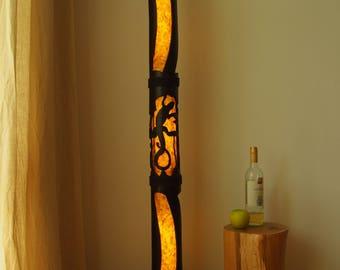 Floor Lamp Interior Yoga Studio Decor Bamboo Furniture Reclaimed Wood Rustic Standing Housewarming Gift
