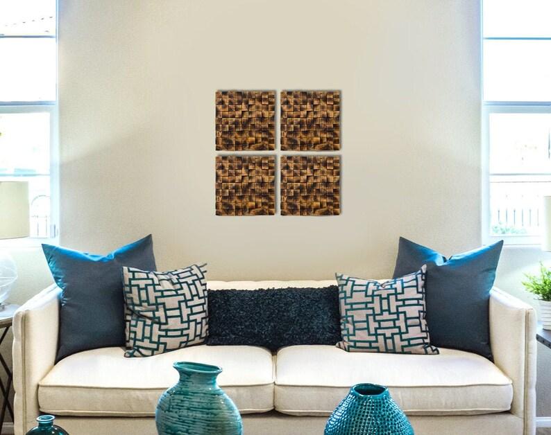set of wooden mosaics wooden wall art ref= 3