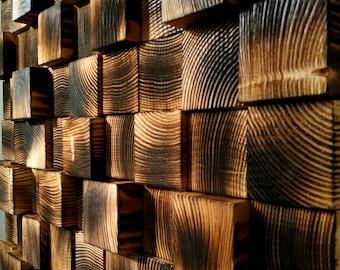 Reclaimed Wood Wall Art, Wooden Wall Decor, Wooden Wall Sculpture, Wall Mosaic, Modern Wood Art, Wall Hanging Wood Mosaic, Home Gift