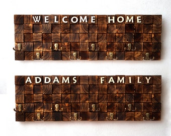 Personalized Wall Hanger, Wedding Gift, Wall Clothes Hanger, Custom Clothes Hanger, Wood Clothes Hanger, Hook Wall Hanger, Clothing Hanger