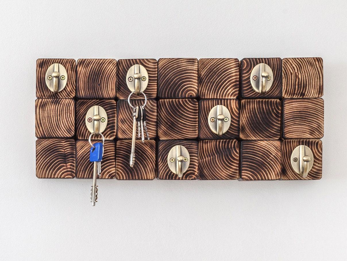 porte cl s mural crochet pour les cl s porte cl art mural. Black Bedroom Furniture Sets. Home Design Ideas
