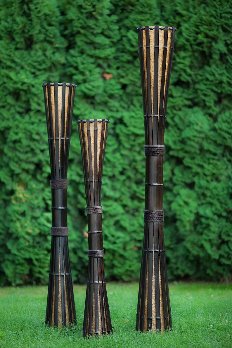 Stehleuchte Bambusmöbel Patio Lampe Wohnzimmerlampe Etsy