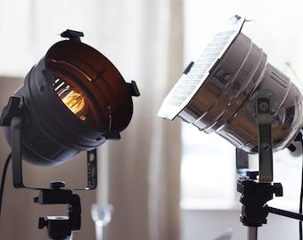 Floor Lamp, Industrial Lamp, Movie Set Decor, Tripod Lamp, Big Lamp, Modern Lamp, Home Lighting, Work Lamp, Photography Light, Men Gift