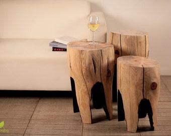 Tree Stump Table, Wooden Furniture, Coffee Table, Small Table, Tea Table, Rustic Decor, Log Stool, Tree Stump Stool, Wooden Side Table