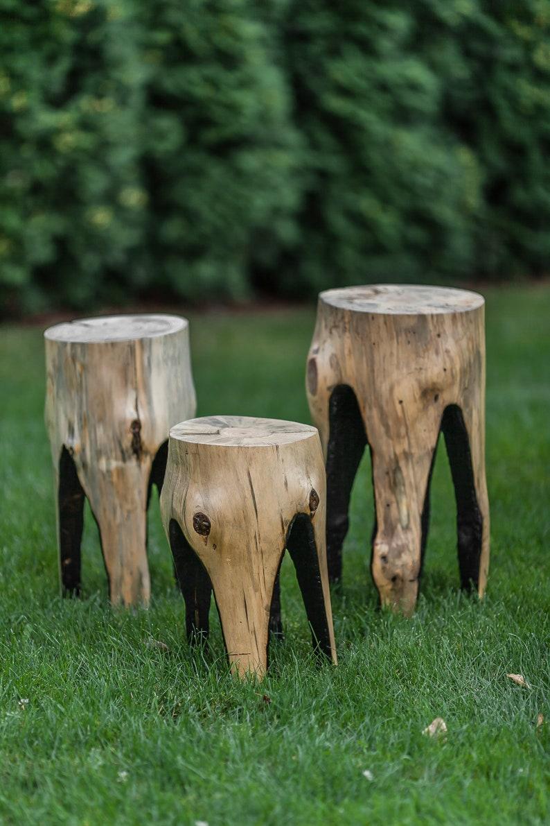 Table de patio table de jardin tabouret de rondin table de | Etsy