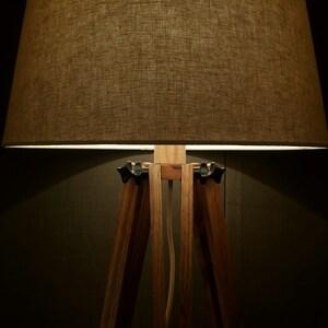 Tripod Lamp, Floor Lamp, Big Lamp, LED Lamp, Bedroom Decor, Wooden Floor Lamp, Oak Decor,Industrial Lamp, Studio Lamp, Office Lamp