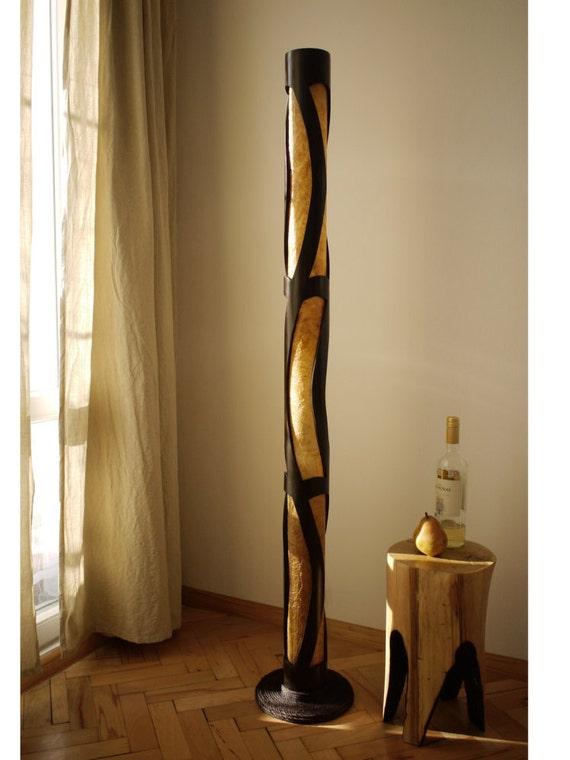 Stehleuchte, Holz Stehlampe Bambus Dekor, stehend, Lampe, hoch Lampe,  Wohnzimmerlampe, Yoga Studio Dekor, große Lampe, LED-Lampe, Bambus