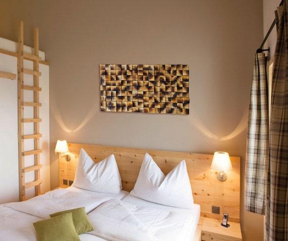 Wood Wall Art, Bedroom Decor, Farmhouse Decor, Burned Wood Art, Wooden  Mosaic, Wall Mosaic, Above The Bed Decor, Wood Wall Hanging, Rustic