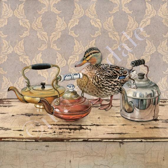 "Buddan Ducks Mallards Limited Edition S//N Print /""Winter Light Mallards/"" by M"