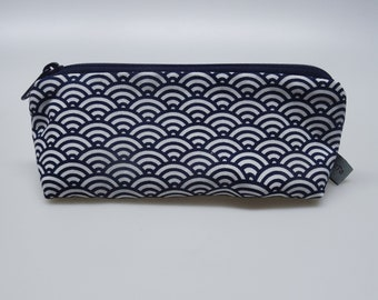 """Pencil Case, small pouch """"Waves"""""""