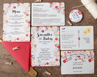 Autumn Romance Wedding Stationery - Minimum order of 25