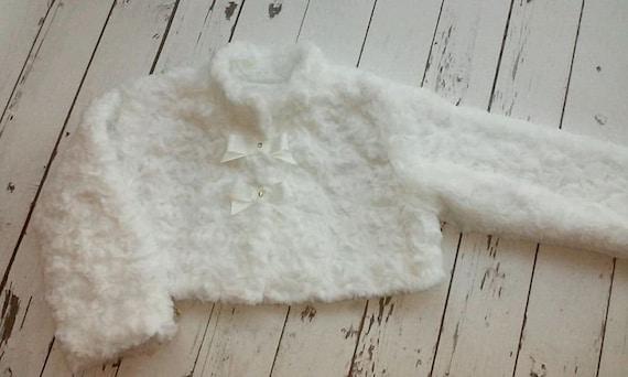 Cute fur bolero jacket size 86 cm #B004