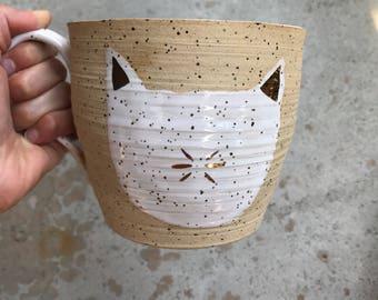 Huge cat mug
