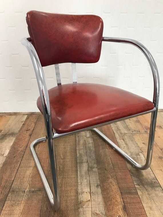MCM Chrome Cantilever Chair FREE SHIPPING