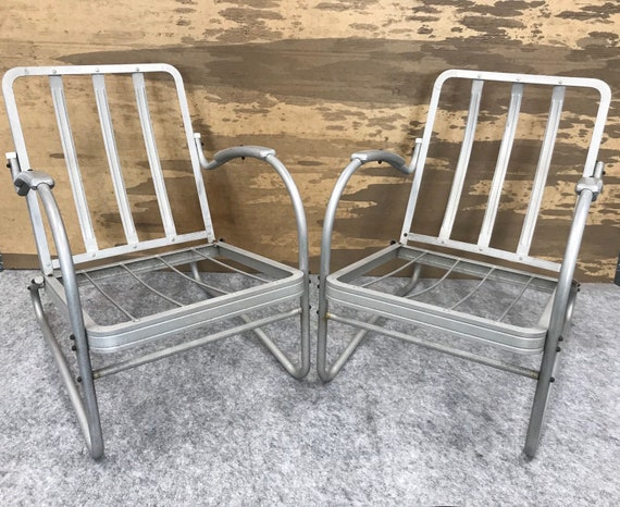 Stupendous Vintage Jr Bunting Aluminum Outdoor Patio Chairs Sale Ibusinesslaw Wood Chair Design Ideas Ibusinesslaworg