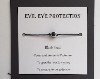 Black Evil eye protection bracelet da6133c8c237