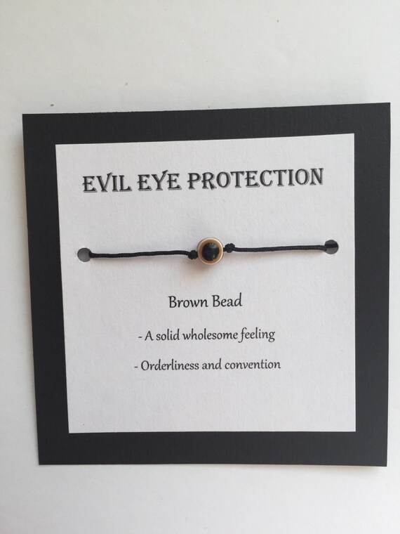 Brown Evil eye protection bracelet, various colors, various forms of  protection