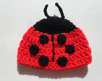 b1b87928b93 LadyBug Preemie Cap