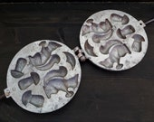 Cookie mold squirrel and mushroom Cake pan molds Mini cookie cutters Cookie stamp vintage