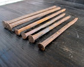 Railroad spikes crafts Rusty nail decor Cast iron antique nails