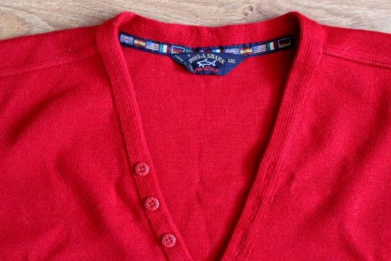 Paul and Shark yachting red wool sweater 90s Naut… - image 4