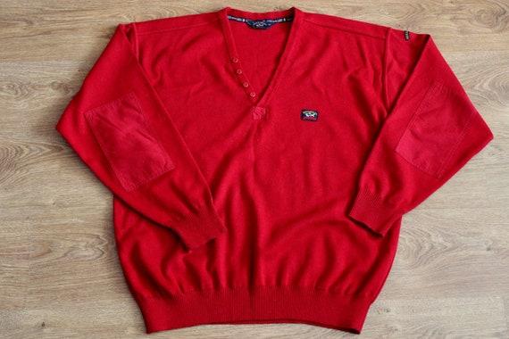 Paul and Shark yachting red wool sweater 90s Naut… - image 1
