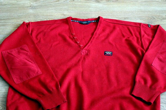 Paul and Shark yachting red wool sweater 90s Naut… - image 5