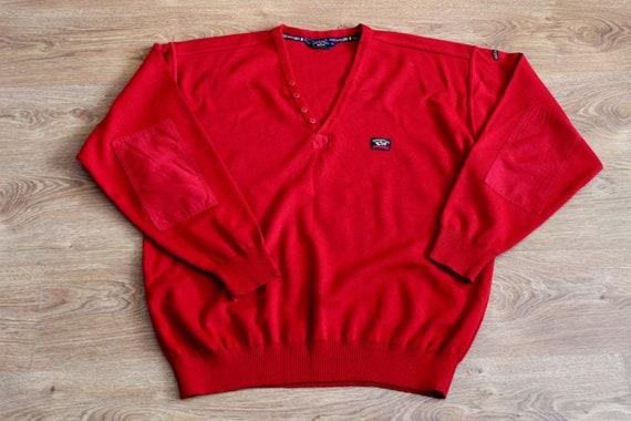 Paul and Shark yachting red wool sweater 90s Naut… - image 6