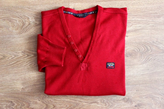 Paul and Shark yachting red wool sweater 90s Naut… - image 2