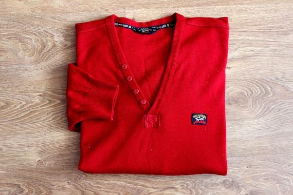 Paul and Shark yachting red wool sweater 90s Naut… - image 7