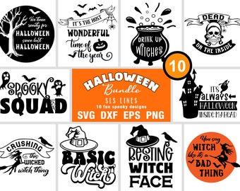 Halloween SVG Bundle - Spooky Pumpkin, Witch and Crow Halloween Cut Files