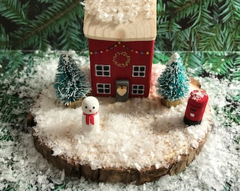 Miniature Christmas Houses   Christmas Ornament   Unusual Decoration   Wooden House Decor   Stocking Fillers Stuffers   Gifts for Her