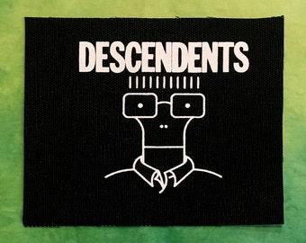 DESCENDENTS Patch Milo Punk Patches Pop Punk Rock Metal Band Album Screen Print Canvas Fabric Ink