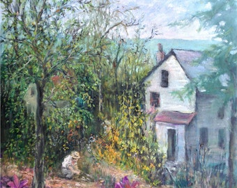 Pittsburgh Urban Garden, West End, Prints in 3 Sizes; painting by Ray Sokolowski