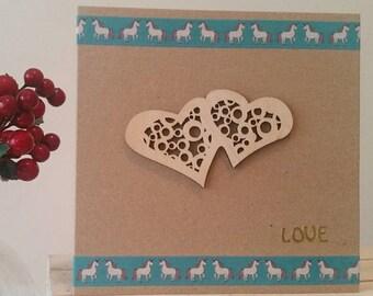 Anniversary Card, Birthday Card, Valentine Card for Girlfriend, Wife, Husband, Boyfriend : Handmade Card Valentine's Day