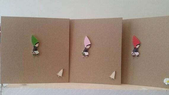 Birthday Card Set For Girls Women Family Handmade Card Set Etsy