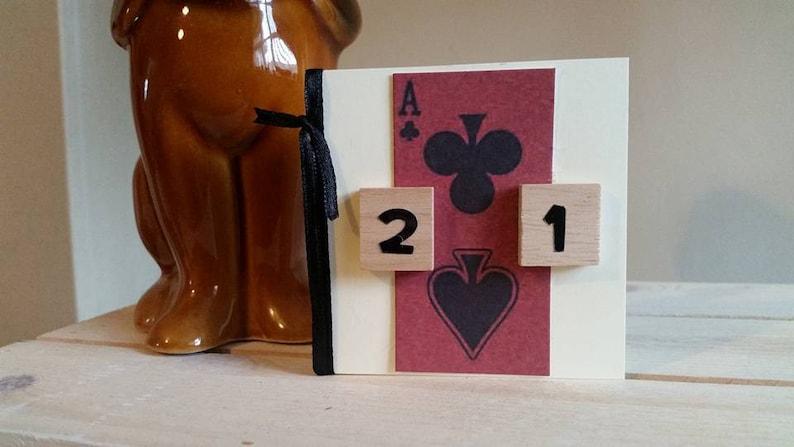 21st Birthday Card Unique Mini Handmade
