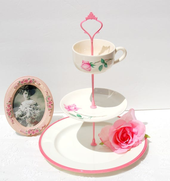 Cupcake Stand High Tea Party Tiered Cake Stand Tea party Vintage Cake Stand Small Lovely single Tier CakeCupcake Stand Jewelry Stand