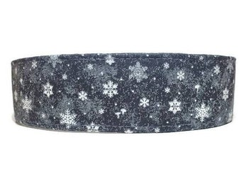 Midnight Glitter Snowfall, Dog Collar, Cat Collar, Made To Order - Available in Buckle or Martingale or Chain Martingale or Cat Collar